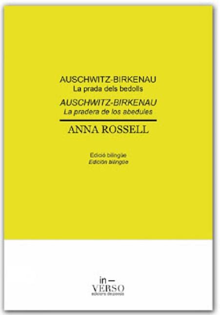 Portada del libro de poemas de Anna Rossell, «Auschwitz-Birkenau. La prada dels bedolls / La pradera de los abedules» (edición bilingüe catalán-español)