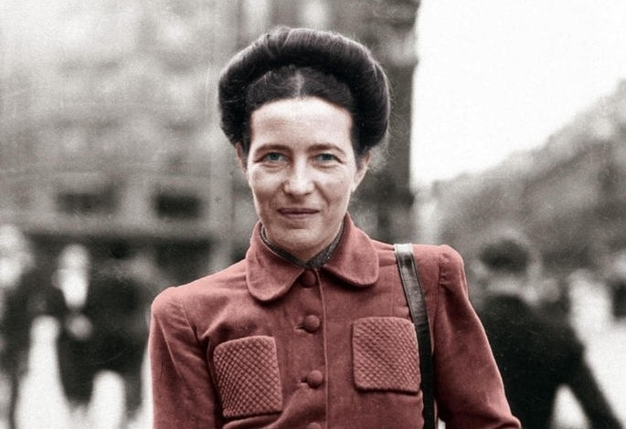 L'escriptora Simone de Beauvoir