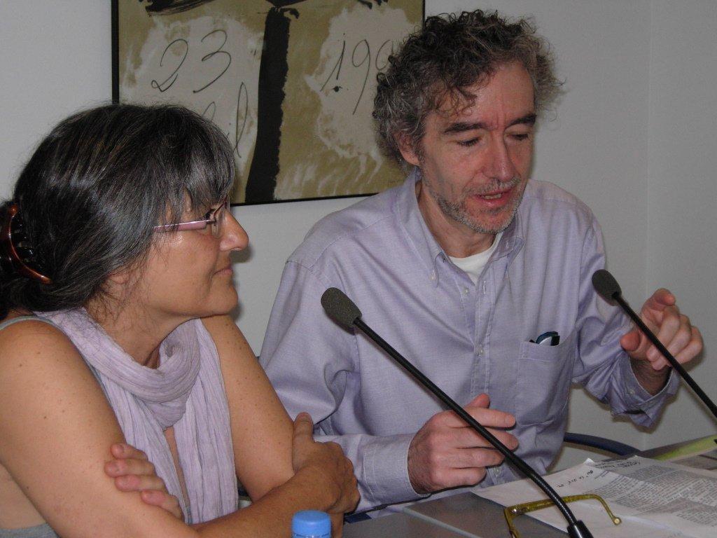Anna Rossell con Alfonso Levi, Tertulia El Laberinto de Ariadna (Ateneo Barcelonés, 2010)