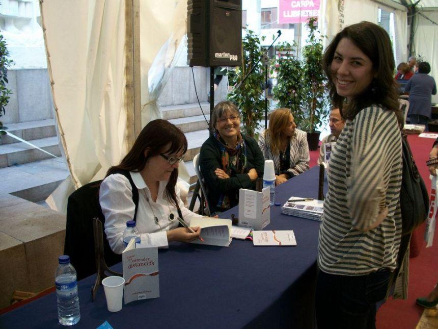 Anna Rossell en la Feria del Libro de Castellón (España, 2012)