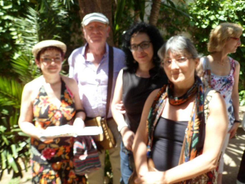 De izquierda a derecha: Cèlia Sánchez-Mústich, Felipe Sérvulo, Pura Salceda y Anna Rossell. Semana de Poesía de Sitges 2012