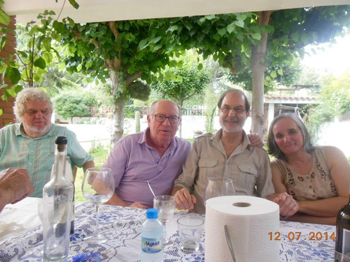 De izquierda a derecha: Jorge Novak Stojsic, Felipe Sérvulo, Josep Anton Soldevila y Anna Rossell. III Encuentro artístico-poético, El Masnou, 2014