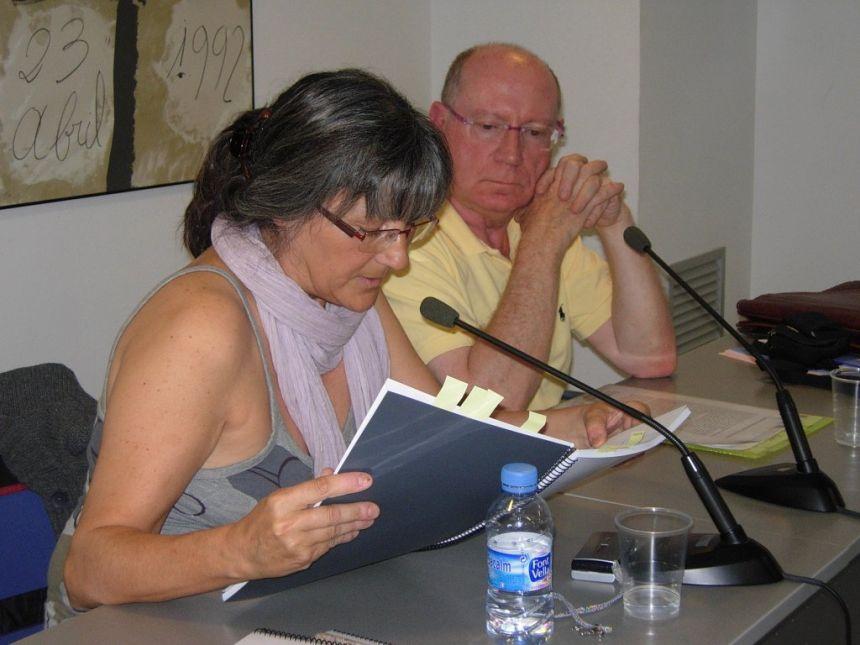 Anna Rossell con Felipe Sérvulo, Tertulia El Laberinto de Ariadna (Ateneo Barcelonés, 2010)