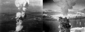 Nube atómica sobre Hiroshima y Nagasaki (6 y 9 de agosto 1945)